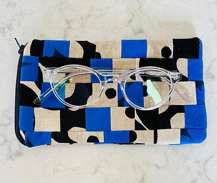 Pieced Japanese Linen Eyeglass Case EC12