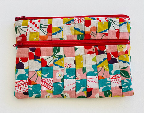 Large Pieced Zip Pouch 13