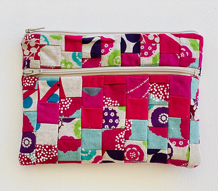 Medium Pieced  Zip Pouch 22
