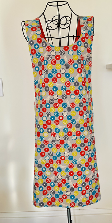 Patterned Linen Apron