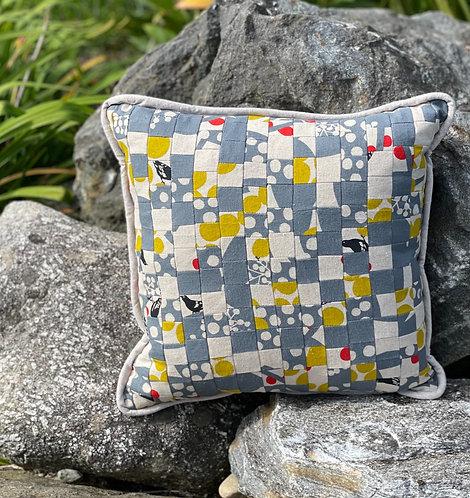 Pieced Japanese Linen Pillow PJL8