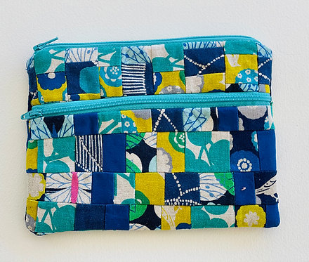 Medium Pieced Zip Pouch 24