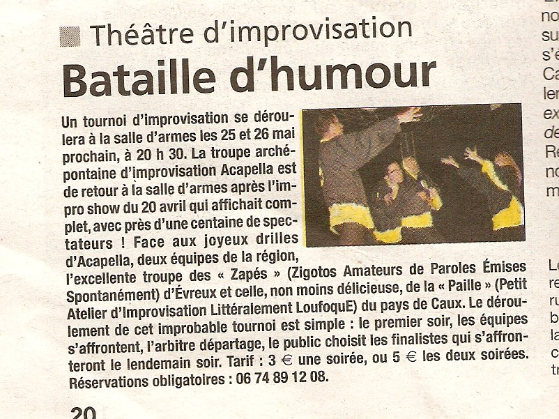 improvisation theatrale normandie