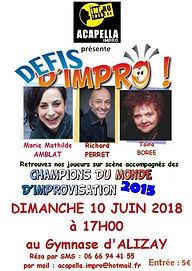 Theatre improvisation Normandie