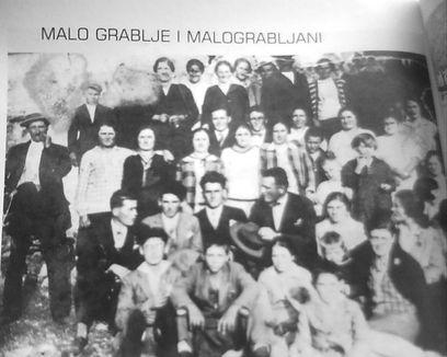 Malo Grablje habitants in 20th century