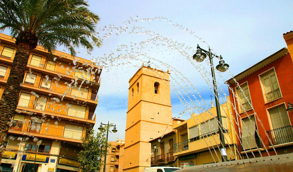 Imatge: Detall de la Plaça Nova de Mutxamel. Foto: Lorenzo