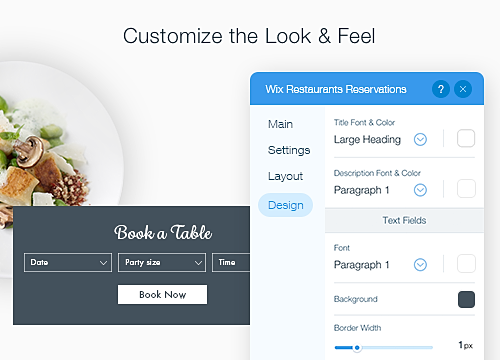 Wix Reservations Overview WIX App Market Wixcom - Market table reservations