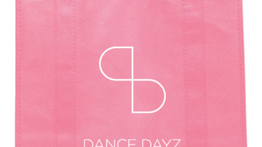 Dance Dayz Pink double-sided Reusable Tote Bag