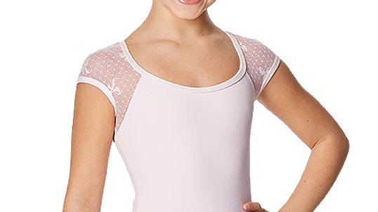 Girls Elaine Cap Sleeve Leotard