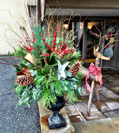 Christmas Urn Arrangement