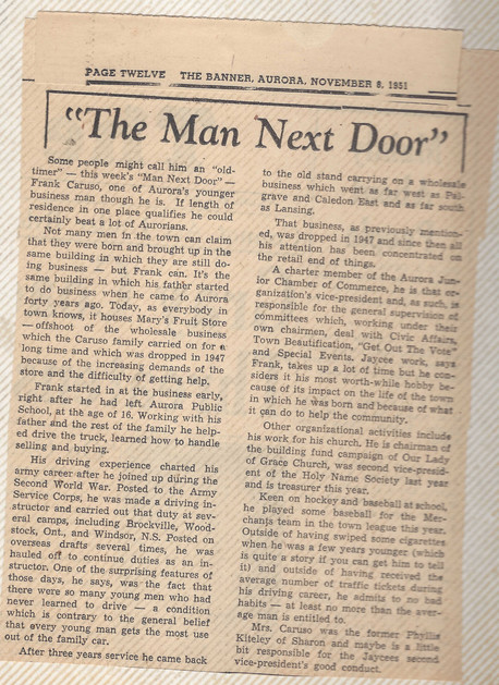 The Man Next Door newspaper article