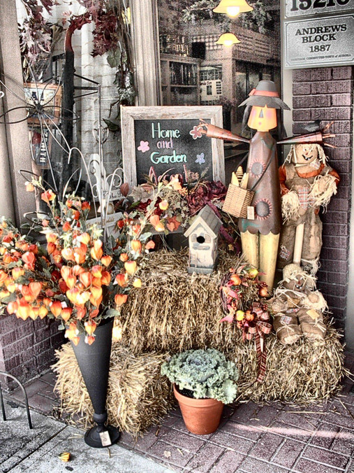 Fall Storefront Display