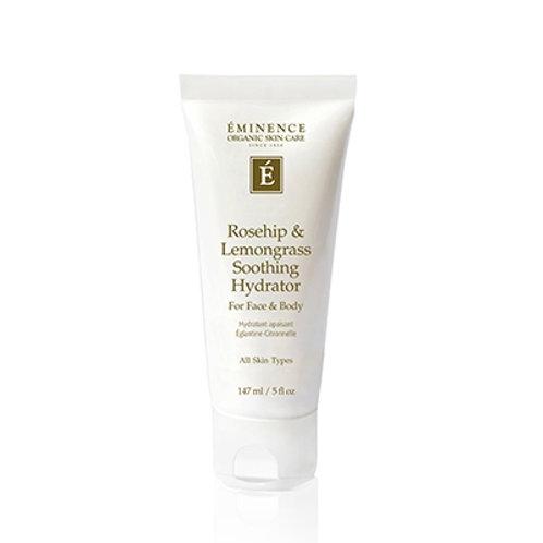 ROSEHIP & LEMONGRASS SOOTHING HYDRATOR FOR FACE & BODY: Light moisturizer