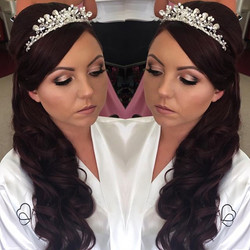 This mornings gorgeous #bride #bridalhair #bridalmakeup all by me _makeupartistcharnie www.charnie-m