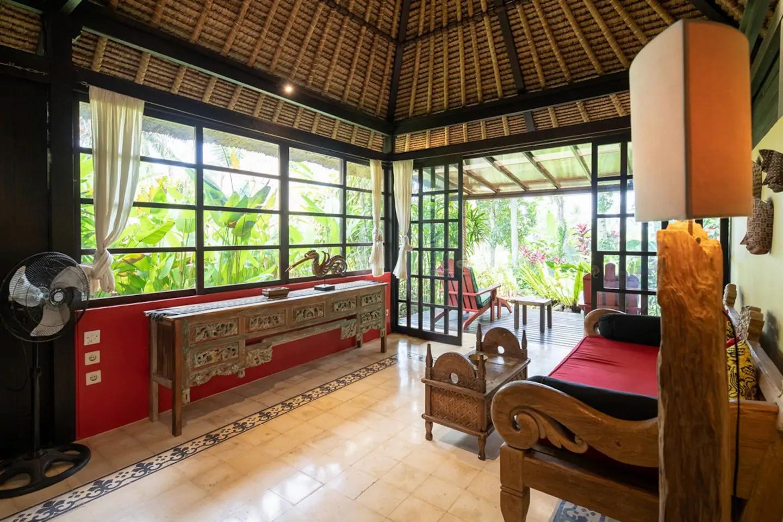 Living area and veranda
