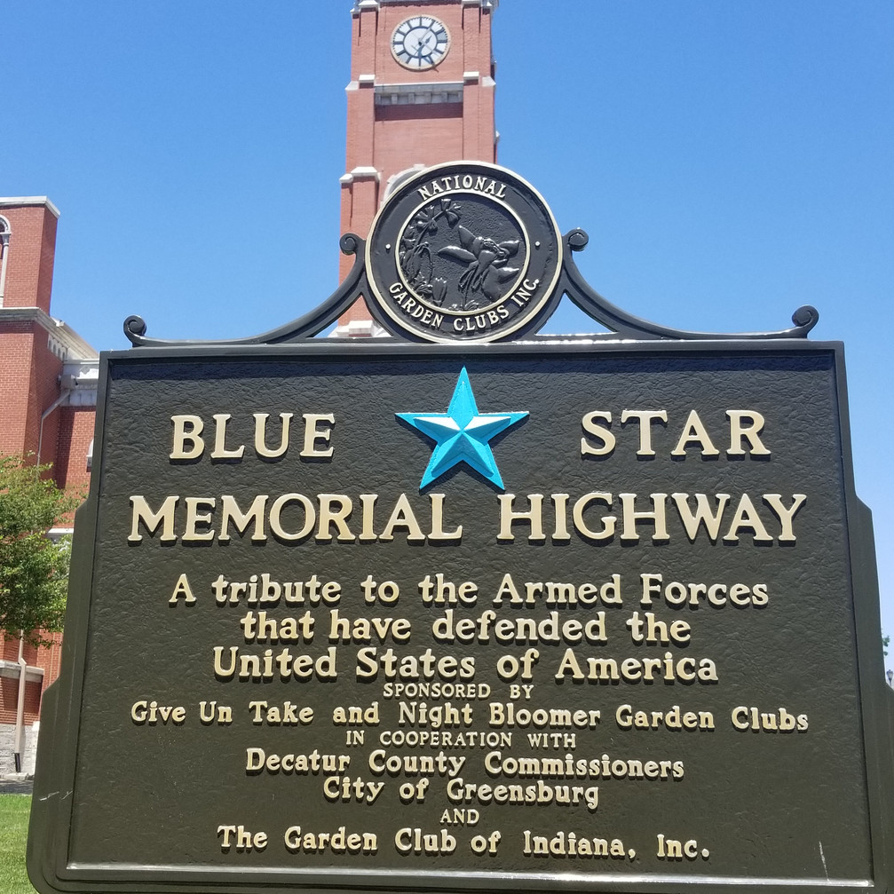 Blue Star Memorial Highway Plaque