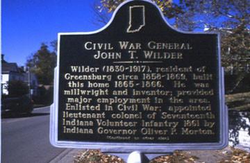 General Wilder's Home Plaque