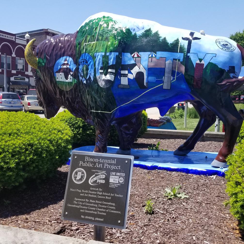 Indiana Bison-tennial Public Art Project