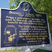 Indiana Freedom Trails - Donnell v. State Plaque