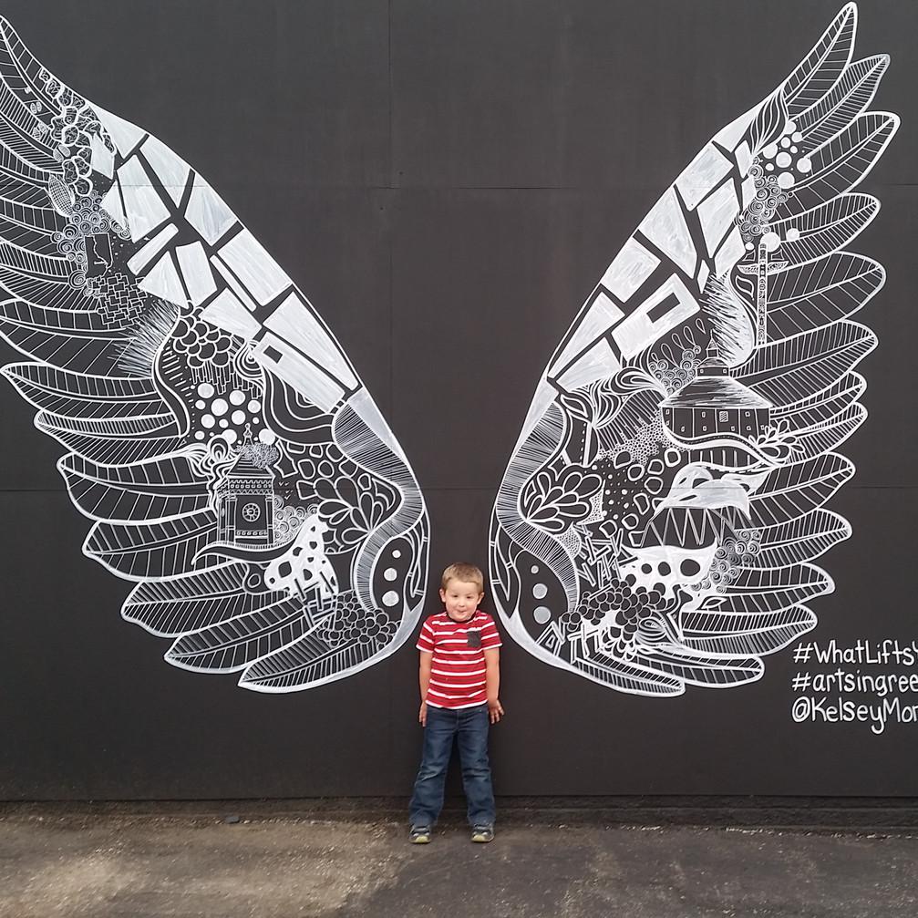#WhatLiftsYou Wings Mural