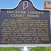 Decatur County Court House Historical Marker
