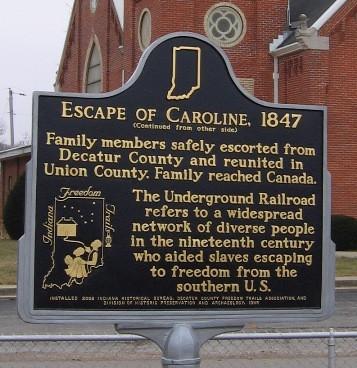 Escape of Caroline 1847 Historical Plaque