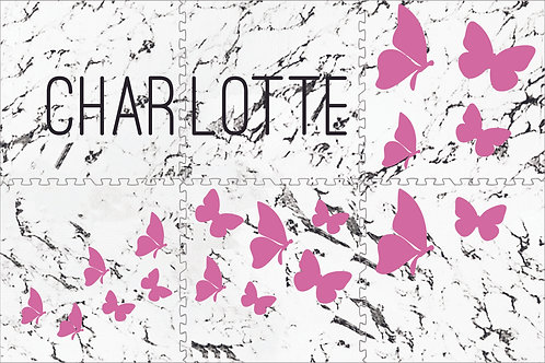 Marble with Butterflies