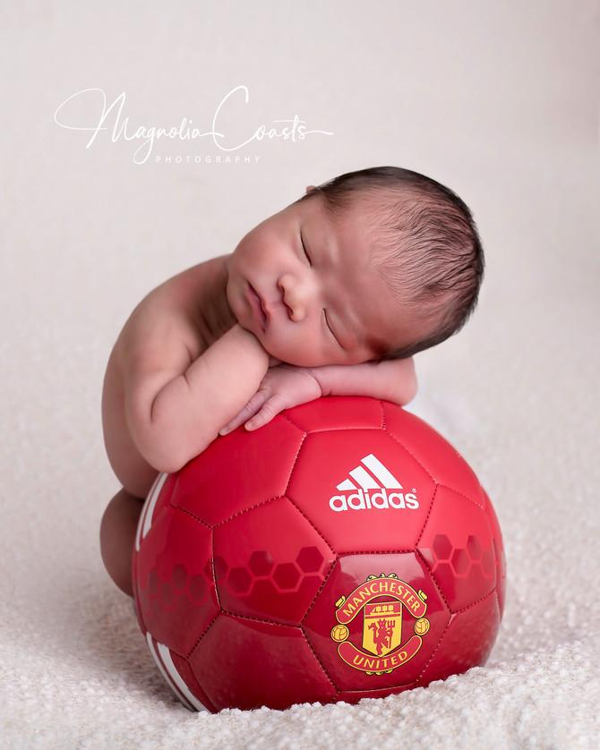 Toronto West / Mississauga East Photographer | Little Soccer Champ | Baby Lorenzo at 10 days | Toron