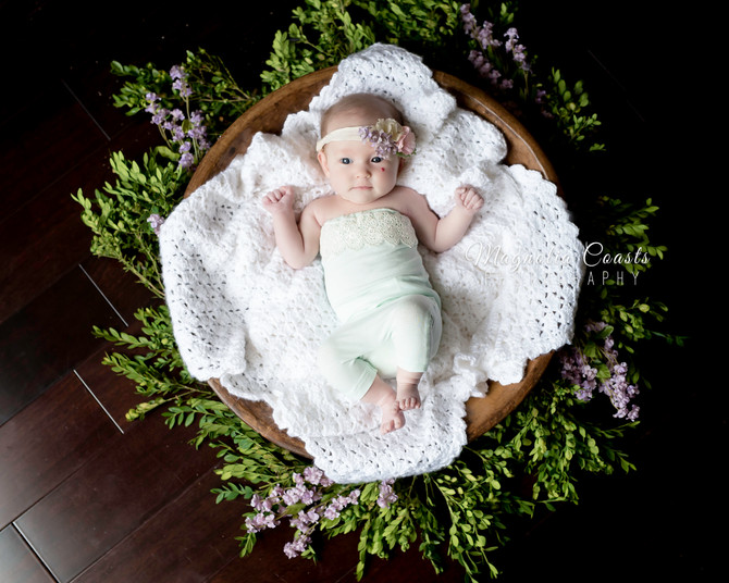 Toronto West / Mississauga East Photographer | Baby Claire at two months | Oakville Baby