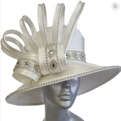 Women's Wedding Dressy church Satin Ribbon Couture Hat