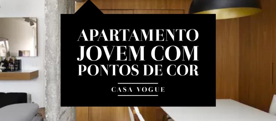 APARTAMENTO MASCULINO, SÓBRIO E JOVEM COM PONTOS DE COR.