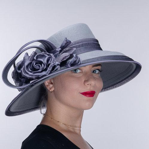 Flower Wool Felt Gambler Hats