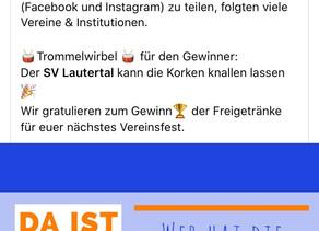 Unser SVL sahnt bei der Volksbank Münsingen schon wieder ab!