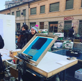 SERIGRAFREDDO live screen printing @Balon Torino