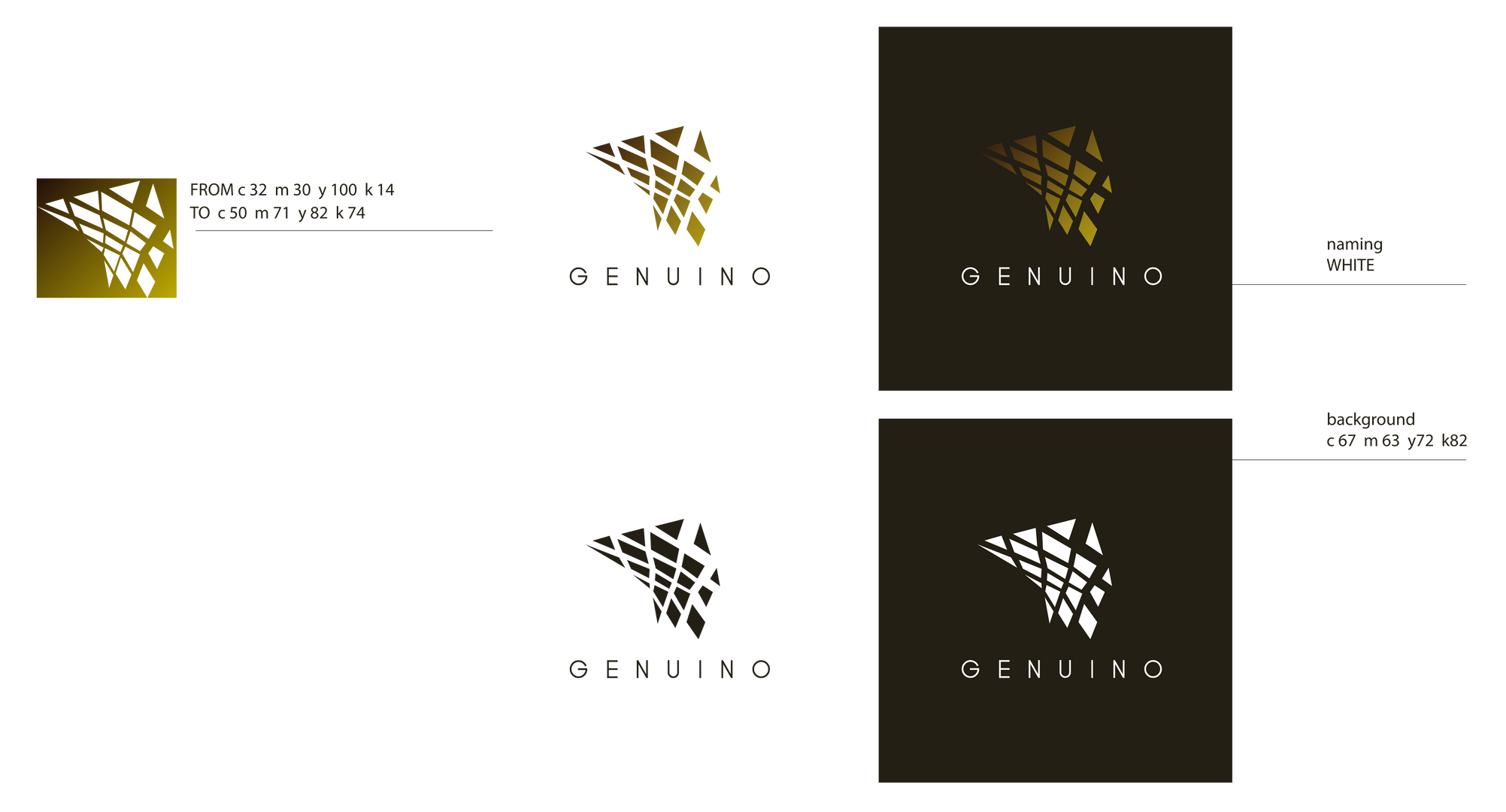 Logo design . GENUINO CAFÈ