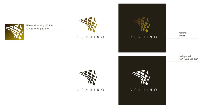 Logo design . GENUINO CAFÈ