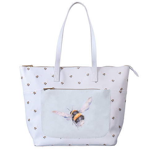 Wrendale Designs Flight of the Bumblebee everyday bag front view Free delivery from the flower shop kirton