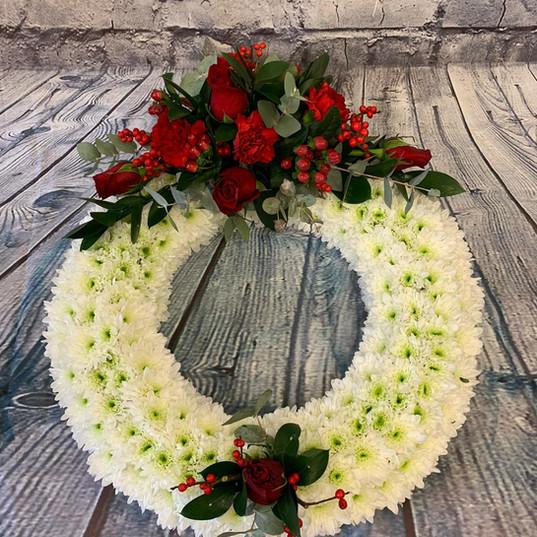 Funeral Wreaths, Hearts + Cushions 048