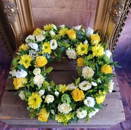 Funeral Wreaths, Hearts + Cushions 040
