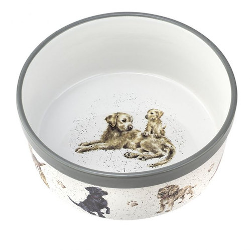Royal Worcester Wrendale Designs 8 inch Dog Bowl Top View Free delivery from the flower shop kirton
