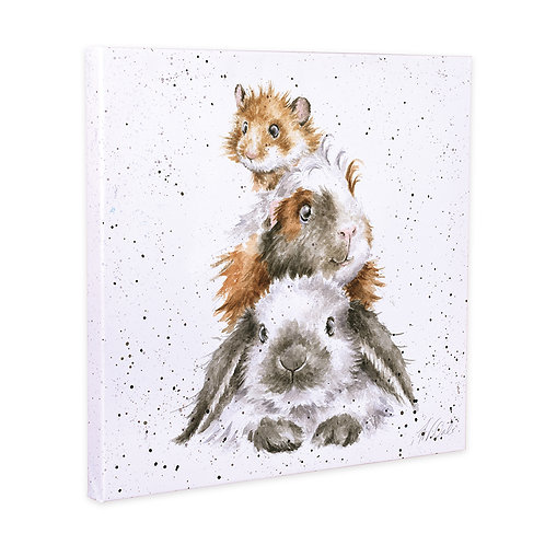 Wrendale Designs -Piggy in the middle-Canvas