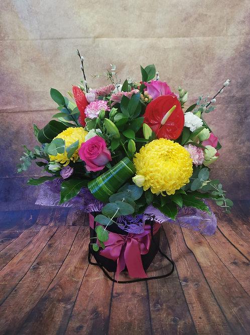 Prestige Large Flower Bouquet - Large Basket Flower Bouquet - Handmade Floral Arrangement In Water