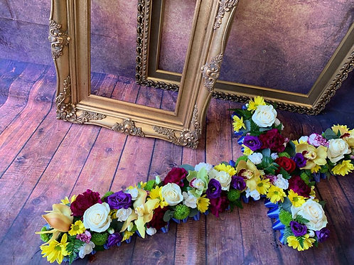 cross funeral flower tribute Free delivery from the flower shop kirton
