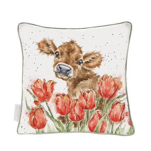 Wrendale Designs Bessie Cow Cushion Free delivery from the flower shop kirton