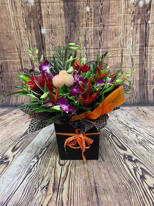 Tropical Aqua Flower Bouquet