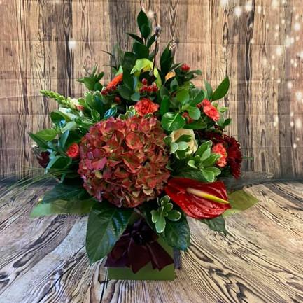 Red and Green Hydrangea flower bouquet.jpg