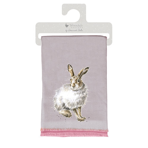 Wrendale Designs Mountain Hare winter scarf