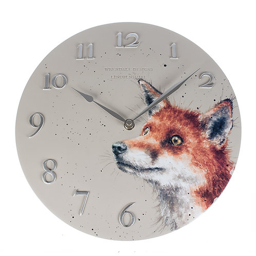 Wrendale Designs Fox Wall Clock