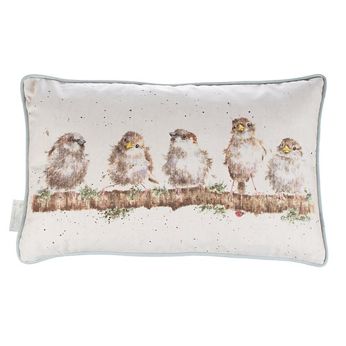 Wrendale Designs-Chirpy Chaps Cushion-Front