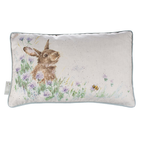 Wrendale Designs-Meadow Rabbit Cushion-Front